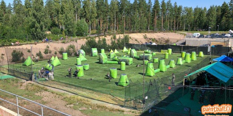 Paintballia ja nerffiä heinäkuussa 2021 Vierumäellä
